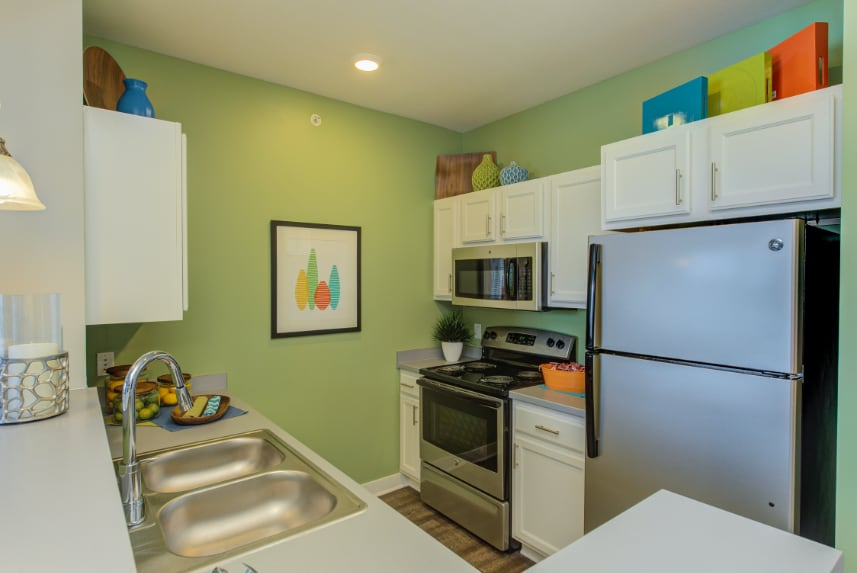 Model kitchen in Greenwood